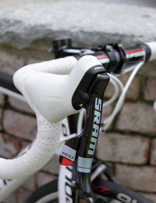 SRAM put larger logos on the Black Red shifters