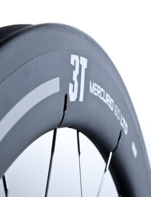 3T says its new Mercurio LTD 60 rim shape was designed to offer good aerodynamic performance at a wide range of yaw angles