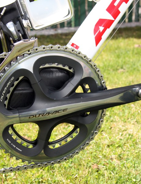Lucas Euser's (Team SpiderTech p/b C10) drivetrain is an all-Shimano Dura-Ace affair.