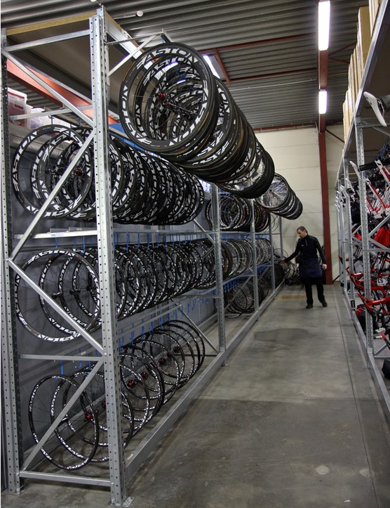 BMC have so many wheels on hand that the mechanics had to add an extra rack up top
