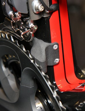 BMC fitted some team bikes with these prototype chain watchers, straight out of the SLS machine