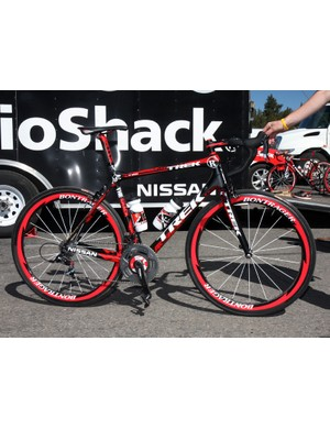 Trek provided Chris Horner and the rest of Team Radioshack with these specially finished Madone 6.9 SSL machines at this year's Tour of California.
