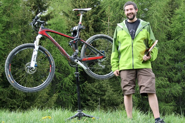 Dave Weagle with the latest bike to feature his Split Pivot suspension design, BH's Lynx 4