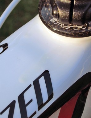 Our test bike had an unfortunate paint blem due to excessive application of clearcoat (look just above the 'E')