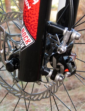 The Avid XX hydraulic brakes with 160mm rotors front and rear provide plenty of stopping power