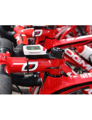 Bissell Cycling's Blackburn Neuro computers use a unique mount that secures beneath the headset cap