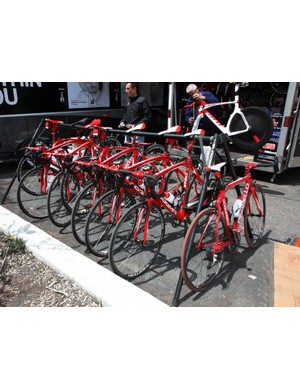 Bissell Cycling continue to be one of the best-outfitted teams on the US domestic circuit with their Pinarello Dogma framesets, Campagnolo Record groups and Easton carbon wheels