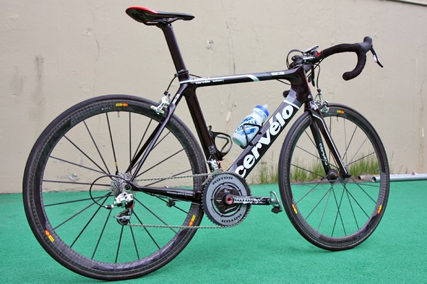 David Zabriskie (Garmin-Cervelo) is using this sleek Cervelo S3 in this year's Tour of California