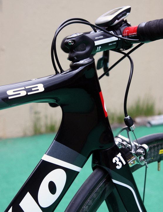 Cervelo stick with a straight 1-1/8in steerer tube on the S3 in order to minimize the bike's frontal area