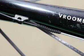 Gore Ride-On Professional System cables are installed on David Zabriskie's (Garmin-Cervelo) Cervelo S3