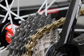 The TK chain runs on an 11-23T Shimano Dura-Ace cassette