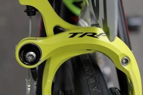 TRP's TK brake offers loads of clearance and is said to be light yet offer plenty of braking performance