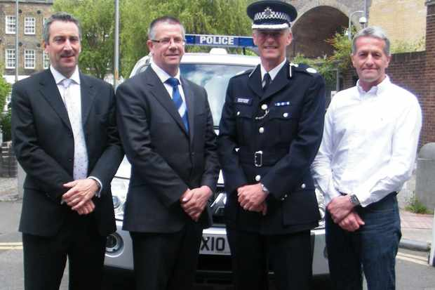 Martin Gibbs (British Cycling), Inspector Bob Brayshaw, Commander Mark Gore of the Metropolitan Police and Jonny Clay (British Cycling)