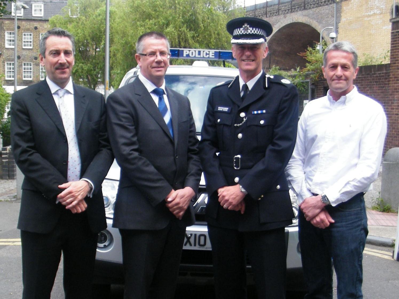 Martin Gibbs (British Cycling), Inspector Bob Brayshaw, Commander Mark Gore of the Metropolitan Police and Jonny Clay (British Cycling)