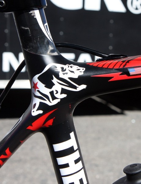 The paint scheme was custom created for the Amgen Tour of California