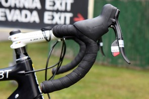 Rory Sutherland (UnitedHealthcare) is using Ritchey's latest semi-anatomic WCS Curve alloy handlebar.