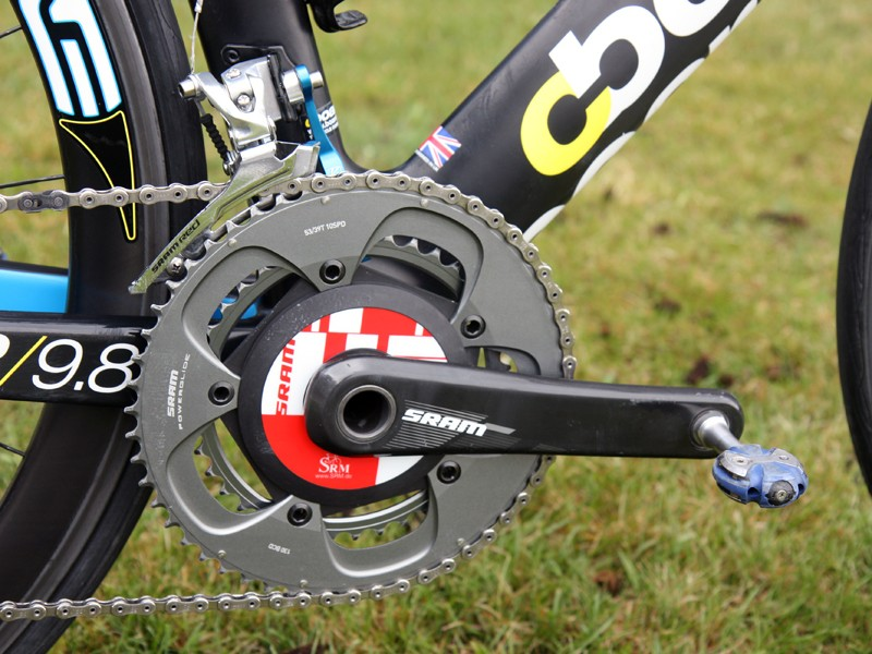 Rory Sutherland (UnitedHealthcare) both races and trains with his SRAM S975 SRM power meter.