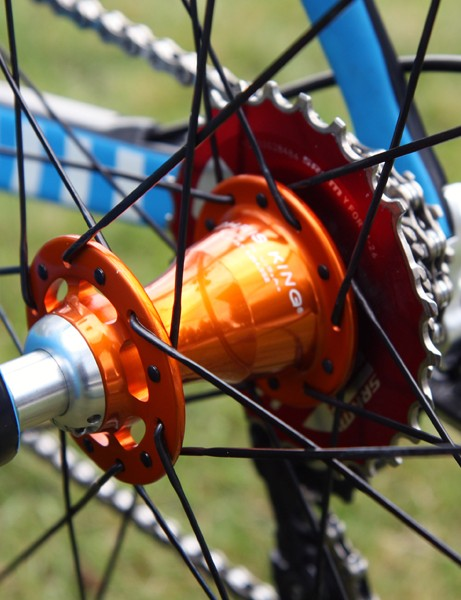 Chris King's latest road-specific R45 hubs have much less seal and ratchet drag than the company's standard hubs.