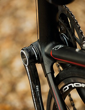 The Time's carbon frame tubes are hand-woven, with each tube composition being tuned to its precise purpose