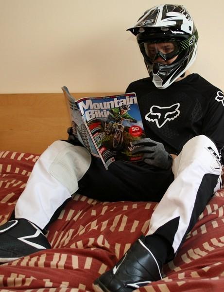 Fox's latest race 'pyjamas' – comfy and protective on the bike, overkill for bedtime