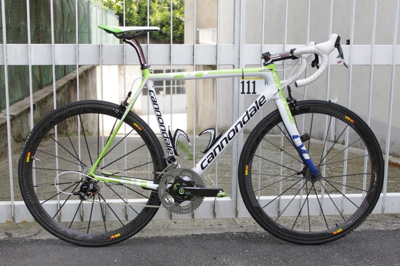 Vincenzo Nibali's new Cannondale SuperSix Evo weighs just 6.86kg as pictured