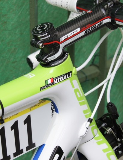 Nibali's name tag