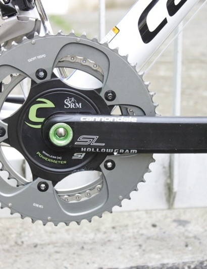 Nibali's bike needs additional mass to 'make weight' even when equipped with a SRM power meter