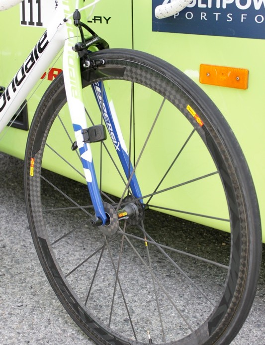Mavic's CCU is the team's go-to wheel, the 'Ultimate' all round race wheel in Mavic's range