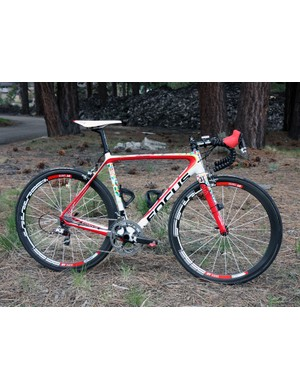 Jeremy Powers' (Jelly Belly p/b Kenda) Focus Izalco Pro is one of the more recognizable bikes in the pro peloton