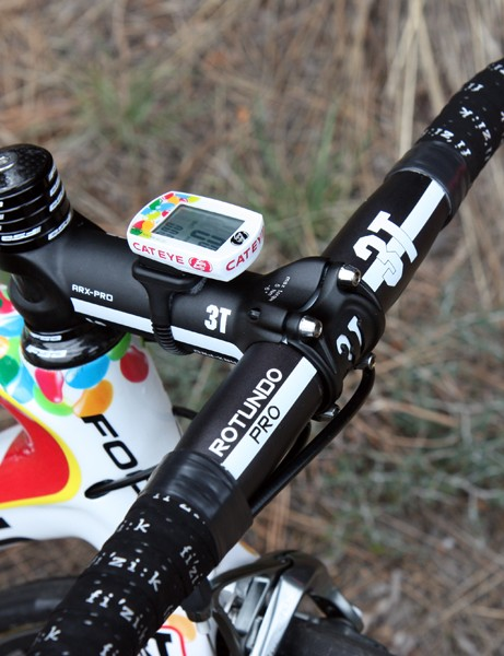 Jeremy Powers (Jelly Belly p/b Kenda) is using an all-aluminum cockpit on his Focus Izalco Pro