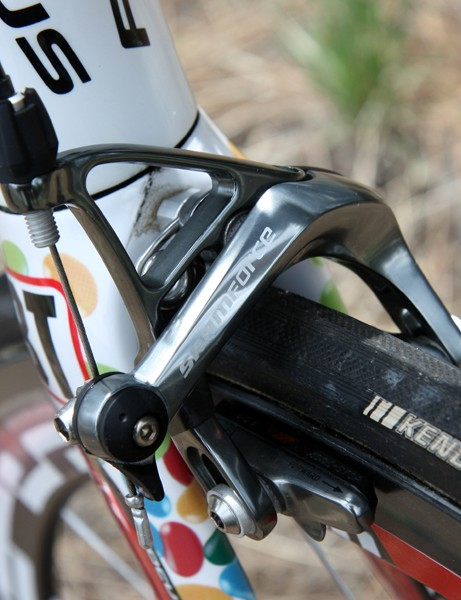 Aside from the finish and steel hardware, SRAM's Force brake calipers are essentially identical to Red