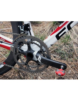 Team bikes are outfitted with SRAM Force BB30 cranks