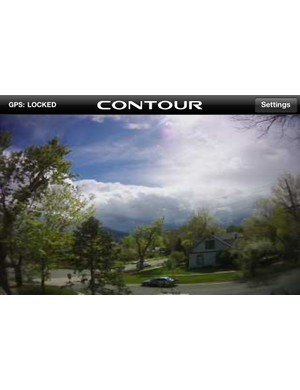 Pairing an iOS or Android-equipped mobile phone to the ContourGPS via the Connect View Bluetooth card turns the phone into a live viewfinder