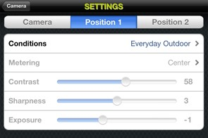 Users can also tweak image settings via the mobile app