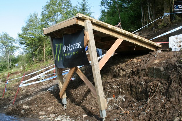 The new 'Big Doon' is an intimidating addition to the already fearsome Fort William downhill course