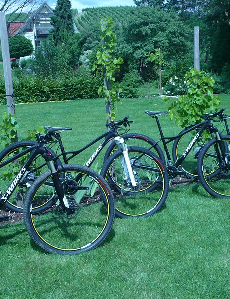2012 Specialized Fates, all ready for journalists to check out at the product launch.