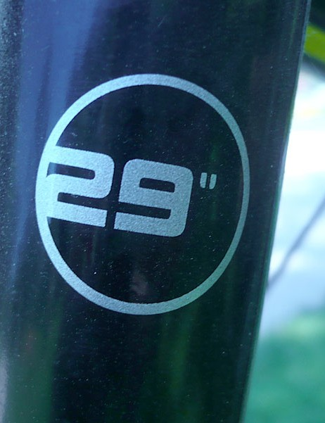 In case you forget you are on a 29er, there is this reminder.
