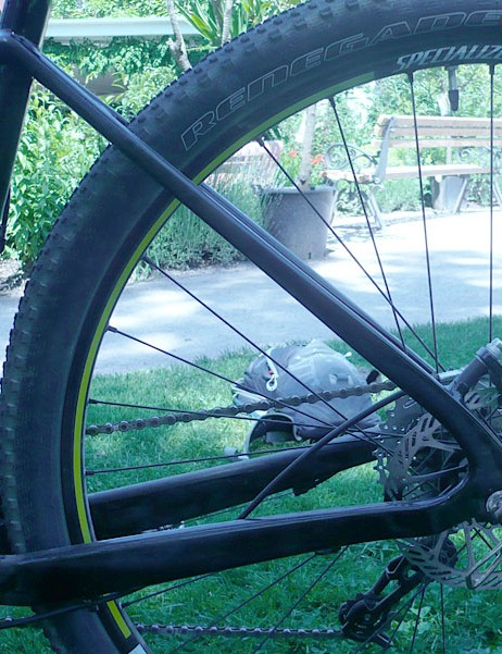 A look at the rear triangle of the Specialized Fate.