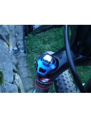 The Rock Shox Reba forks can be locked out with this lever.