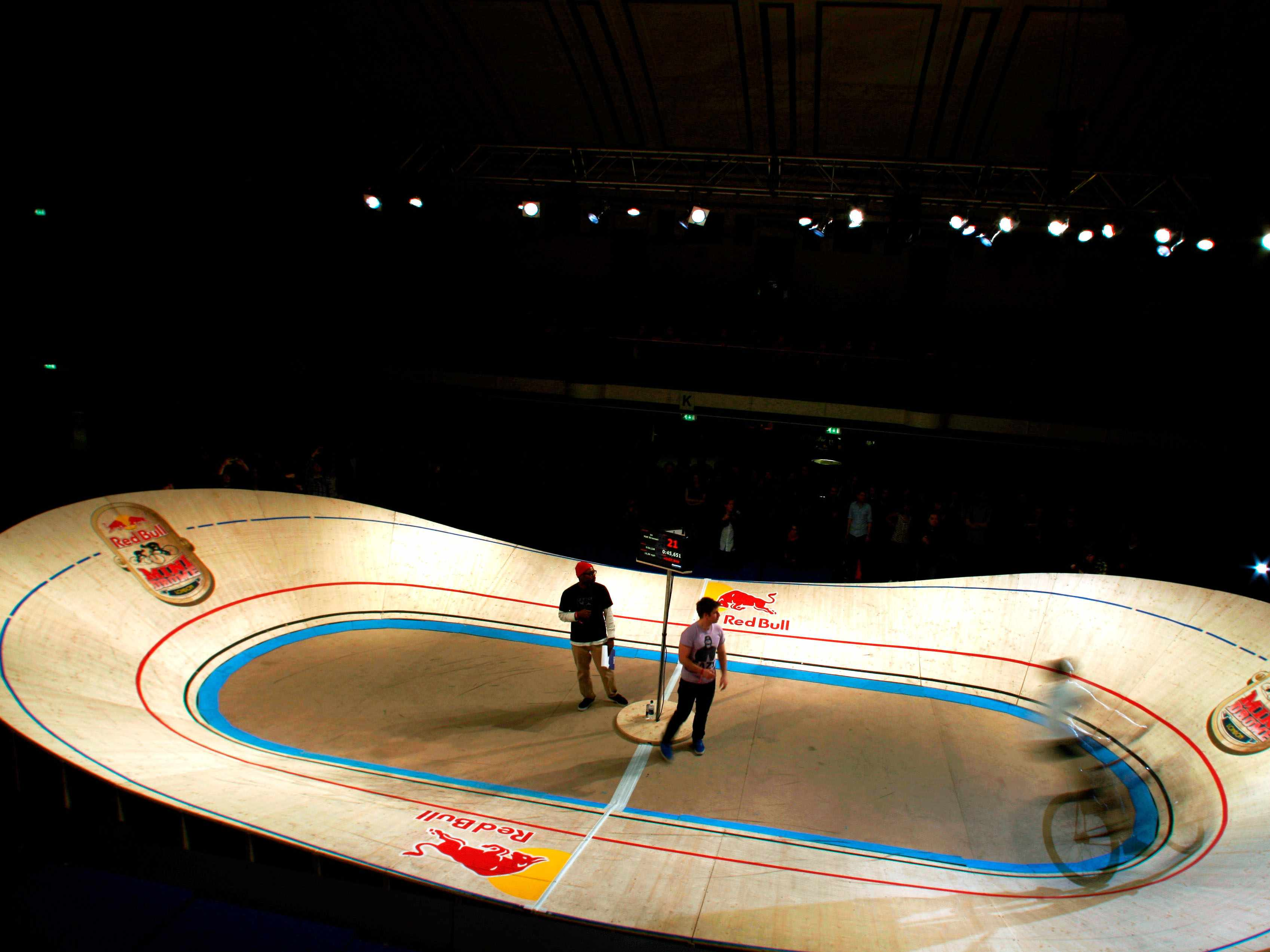 York Hall, London was the only previous time the Red Bull Mini Drome has visited the UK