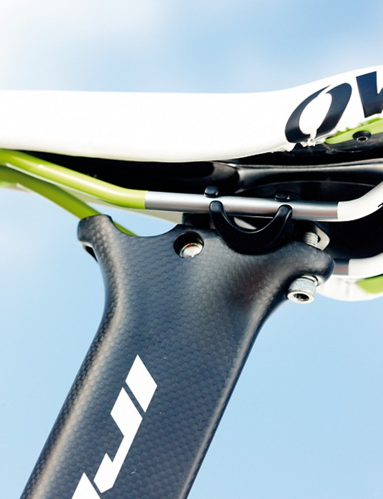 The twin position carbon aero post gives 45mm of forward offset