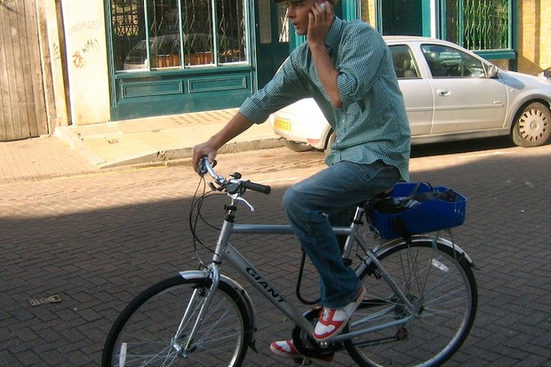 Riding and texting or talking; common sense says otherwise