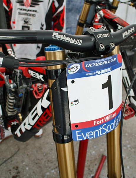 The #1 plate Gwin earned at 2011's first World Cup round in Pietermaritzburg, South Africa