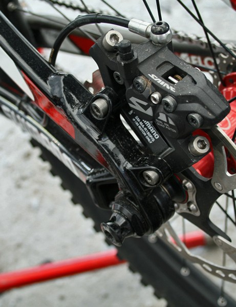 Trek's ABP concentric rear axle pivot helps isolate the suspension from braking forces