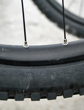 Wheels take plenty of punishment at Fort Bill, as evidenced by these two dings...
