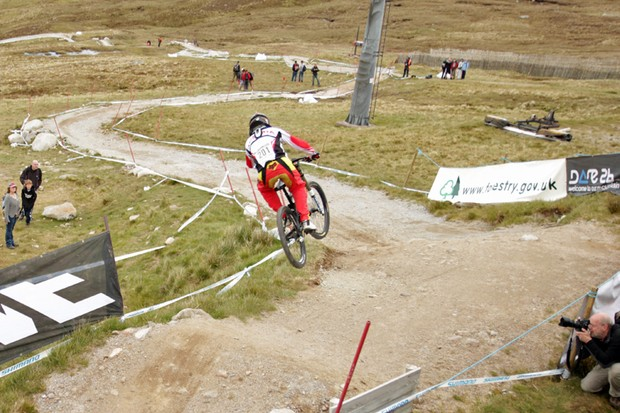 The Fort William downhill course is dry, fast and looking as gnarly as ever