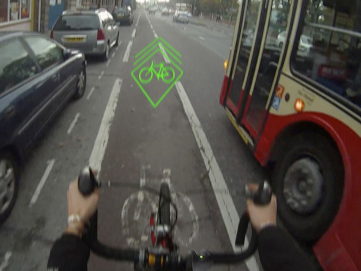 Brooke hopes the laser will increase the awareness of bikes on the road