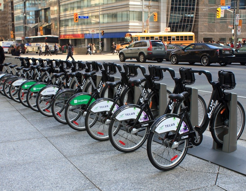 BIXI bikes have logged 10,000 rides since their launch last month in Toronto