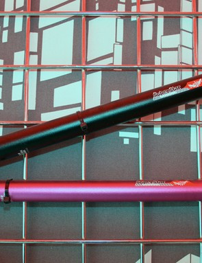 Superstar's one-piece, 3D-forged alloy seatposts are available in inline and layback versions, in a load of colours, for £22