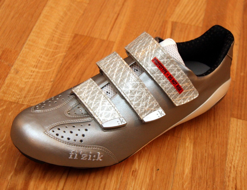 The prototype of fizik's R3SL shoe, which will be launched at Eurobike later this year.